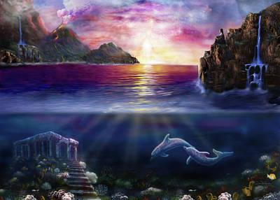 Scorpio Sunset H037 Poster