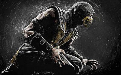 Scorpion - Mortal Kombat Poster by Taylan Apukovska