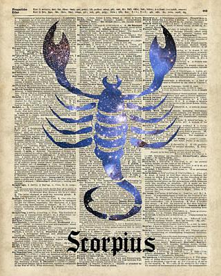 Scorpius Scorpion Zodiac Sign  Poster by Jacob Kuch