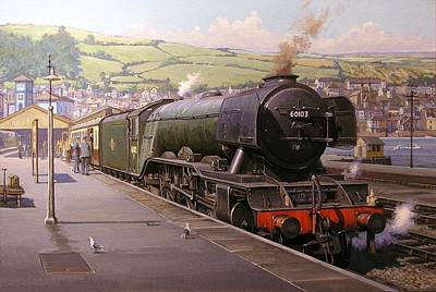 Scotsman At Kingswear Poster by Mike  Jeffries