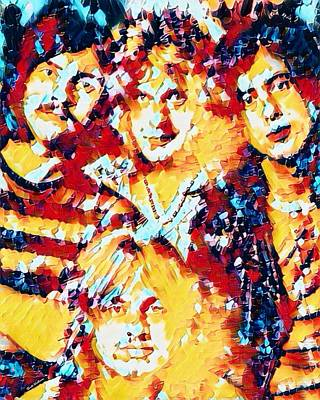 Led Zeppelin Abstract Poster by Scott Wallace