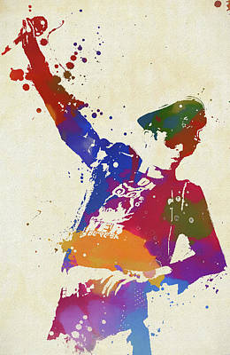 Scott Weiland Paint Splash Poster