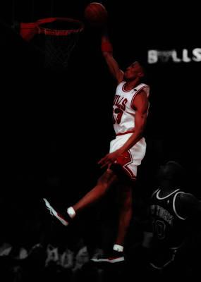 Scottie Pippen Above The Rim Poster