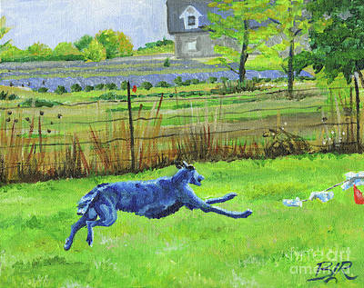 Scottish Deerhound Coursing Poster by Brandi Reyna