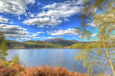 Scottish Loch Garry Scotland Uk Lake West Of Invergarry On The A87 South Of Fort Augustus Hdr Poster by Michael Charles
