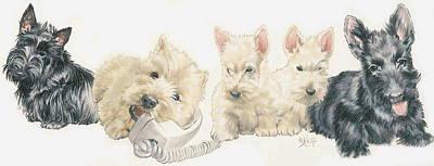 Scottish Terrier Puppies Poster