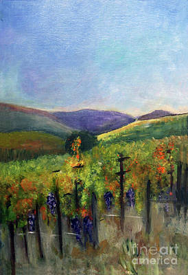 Scotts Vineyard Poster by Donna Walsh