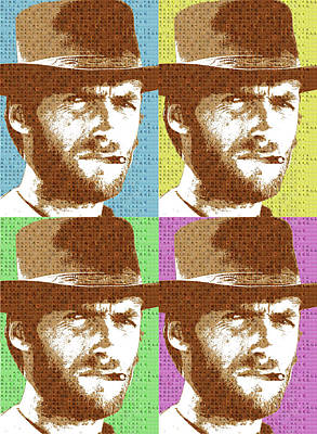 Scrabble Clint Eastwood X 4 Poster