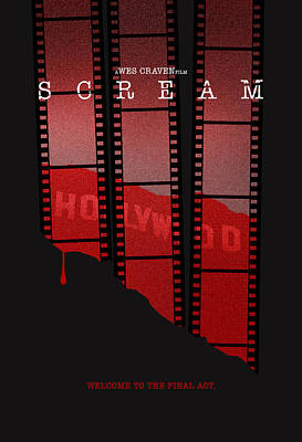 Scream 3 Alternative Poster Poster by Christopher Ables