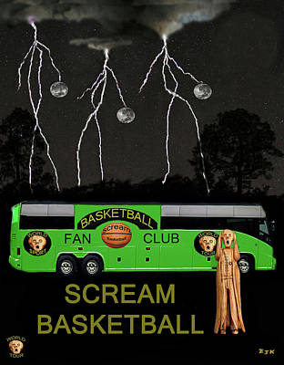 Scream Basketball Poster by Eric Kempson