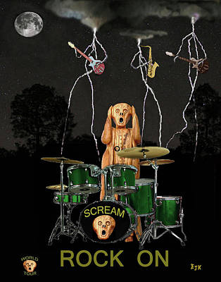 Scream Rock Band Poster