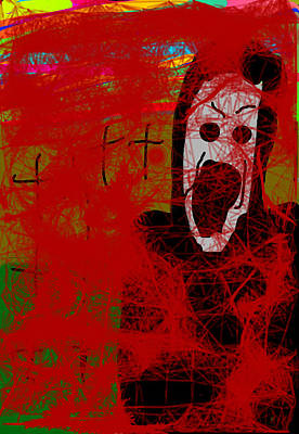 Scream With Blood Poster by Rohit Kumar