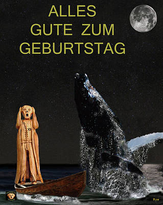 Scream With Humpback Whale German Poster by Eric Kempson