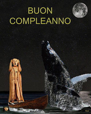 Scream With Humpback Whale Italian Poster by Eric Kempson