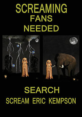Screaming Fans Needed Poster by Eric Kempson