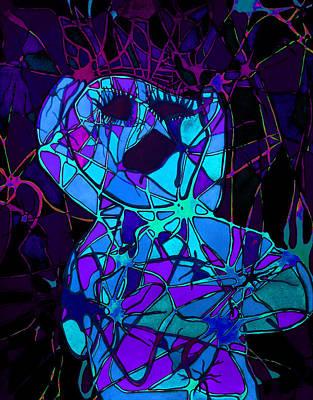 Screaming In Pain Poster by Megan Howard