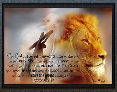 Scripture Art    Lamb Of God Poster