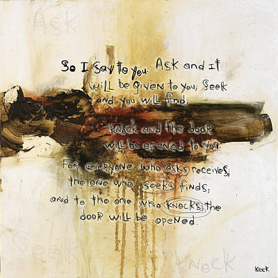 Scripture Christian Religious Abstract Art Print 111517 Poster by Michel Keck