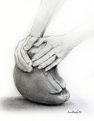 Sculptor's Hands Poster