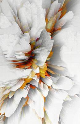 Poster featuring the digital art Sculptural Series Digital Painting 22.120210 by Kris Haas