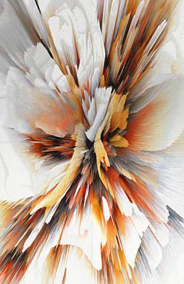 Poster featuring the digital art Sculptural Series Digital Painting 22.120210eext290lsqx2 by Kris Haas