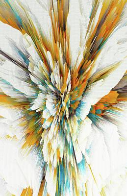 Poster featuring the digital art Sculptural Series Digital Painting 05.072311ex590lvs.jpg  by Kris Haas
