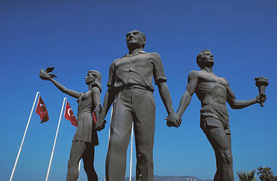 Sculpture Of Ataturk In Turkey Poster by Carl Purcell