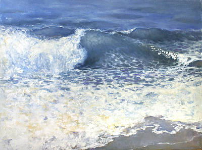 Poster featuring the painting Sea 1 by Valeriy Mavlo