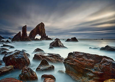 Sea Arch At Crohy Head Poster by Derek Smyth