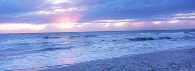 Sea At Dusk, Gulf Of Mexico, Naples Poster
