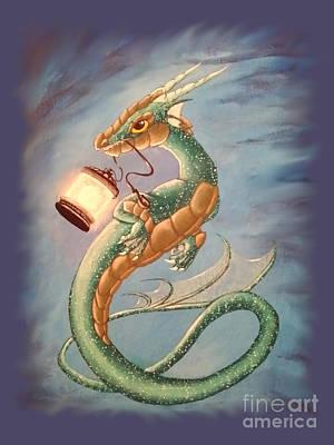 Sea Dragon And Lantern Poster