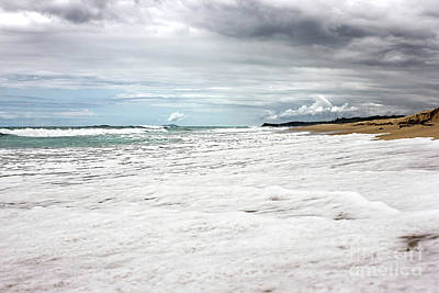 Poster featuring the photograph Sea Foam And Clouds By Kaye Menner by Kaye Menner