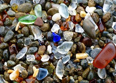 Sea Glass Beauty Poster