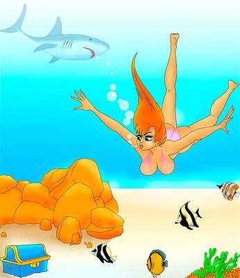 Sea Hunt Poster by Lynn Rider