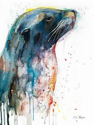 Sea Lion Poster by Slavi Aladjova
