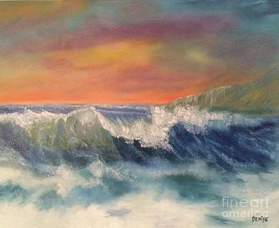 Poster featuring the painting Sea Mist by Denise Tomasura