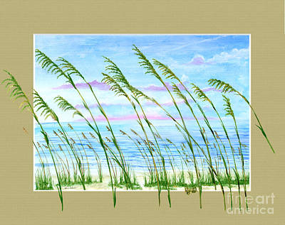 Sea Oats And Sea Poster by Kevin Brant