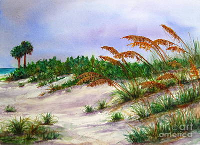 Sea Oats In The Dunes Poster