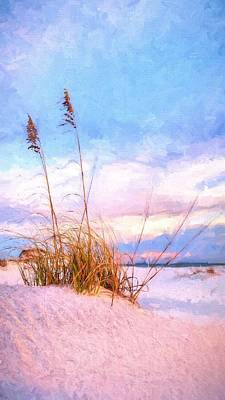 Sea Oats On The Island Poster