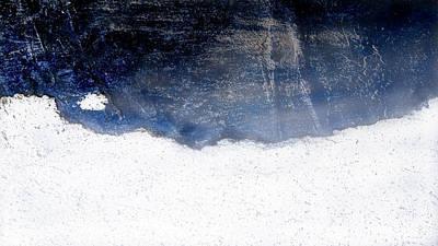 Sea, Satellite - Coast Line On Blue Ocean Illusion Poster
