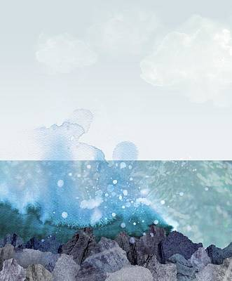 Sea Shore Poster by Varpu Kronholm