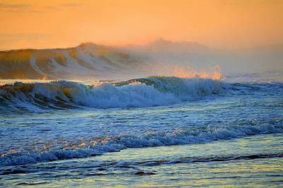 Sea Smoke Sunrise Poster by Dianne Cowen