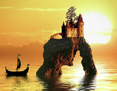 Sea Stack Castle Poster