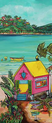 Sea Turtle Rescue Center Poster by Patti Schermerhorn