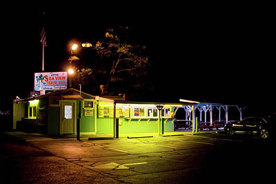 Poster featuring the photograph Sea View Snack Bar - Mystic Ct by Kirkodd Photography Of New England