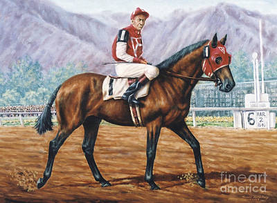 Seabiscuit At Santa Anita Poster by Thomas Allen Pauly