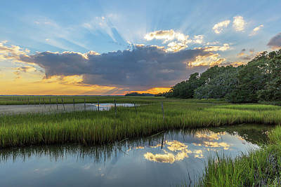 Seabrook Island Sunrays Poster
