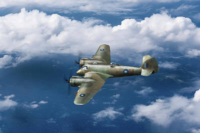 Poster featuring the photograph Seac Beaufighter by Gary Eason