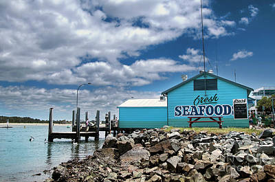 Seafood On The River  Poster by Kaye Menner