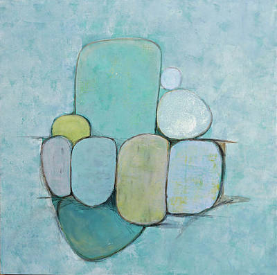 Seaglass 1 Poster by Jillian Goldberg